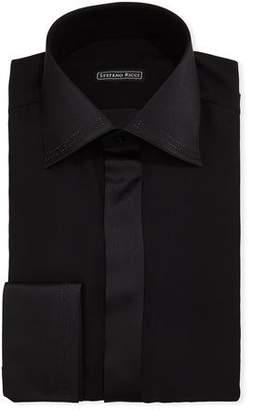Stefano Ricci Men's Crystal-Tipped Silk Formal Shirt