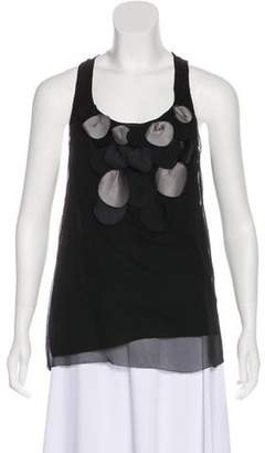 7 For All Mankind Silk Sleeveless Top