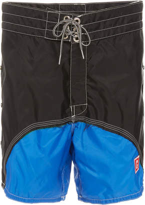 Greg Lauren Color Block Birdwell Swim Short