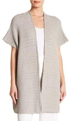 Lafayette 148 New York Oversized Metallic Knit Vest