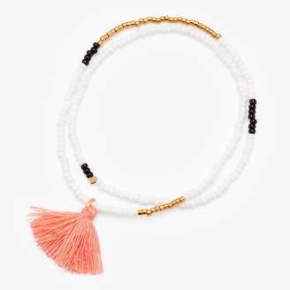 Sidai Designs Elastic Tassel Wrap Bracelet