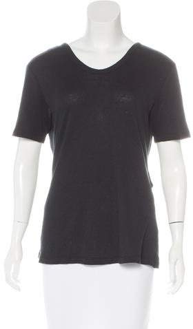 Alexander Wang Alexander Wang Short Sleeve Scoop Neck Top