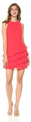 Vince Camuto Women's Chiffon Ruffle Shift Dress