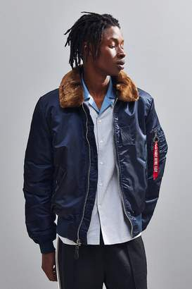 Alpha Industries B-15 Flat Hem Slim-Fit Bomber Jacket