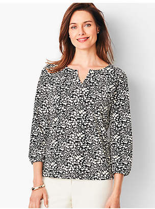 Talbots Pleated Tee - Print