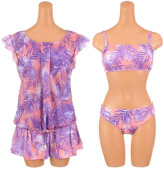Munsingwear (マンシングウェア) - サンアイリゾート サンアイミズギラクエン 【Munsingwear】リーフプリントスイムウェア4点セット