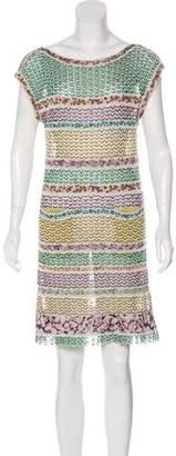 Missoni Multicolored Printed Short Sleeve Dress
