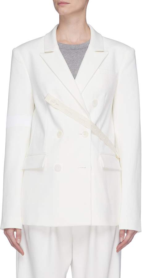 'Mora' button strap suiting blazer