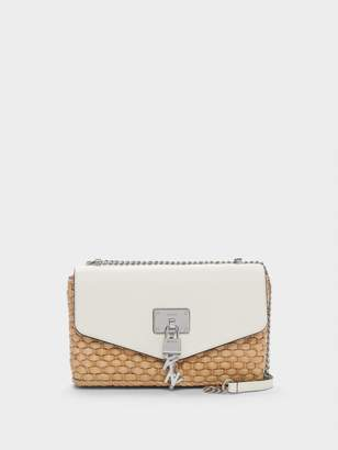 DKNY Elissa Woven Shoulder Bag