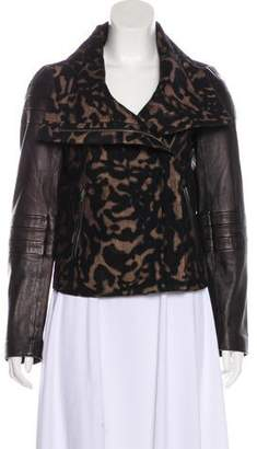 Diane von Furstenberg Leather-Paneled Marvela Jacket