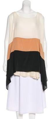 DKNY Silk Short Sleeve Top