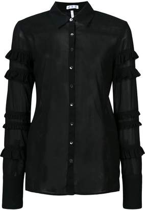 Jed frilled sheer shirt