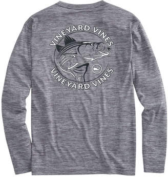 Vineyard Vines Long-Sleeve Performance Striped Bass T-Shirt
