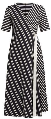 Max Mara Ada Dress - Womens - Navy Stripe