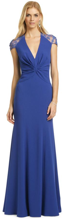 Reem Acra Sapphire Serenity Gown