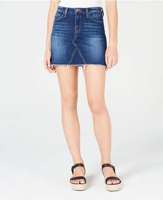 Flying Monkey High-Rise Mini Jean Skirt