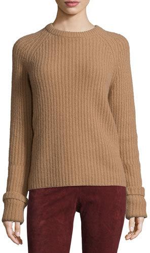 JOSEPHJoseph Lux Ribbed Cashmere Sweater, Camel