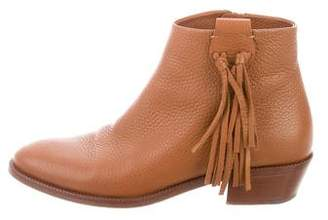 Valentino Fringe Ankle Boots