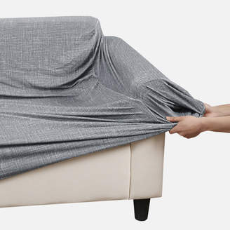 At Temple And Webster Grey Stretch Sofa Cover