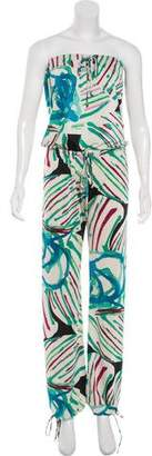 Alexis Strapless Printed Jumpsuit