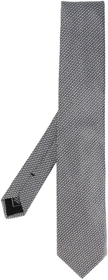 BrioniBrioni micro geometric pattern tie