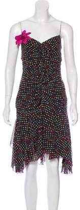 ABS by Allen Schwartz Embellished Polka Dot Dress