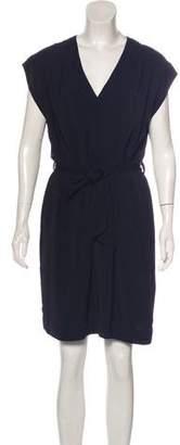 Nili Lotan Short Sleeve Knee-Length Dress