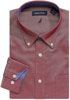 Nautica Long-Sleeve Button-Down Dress Shirt