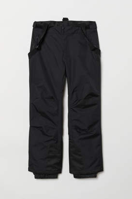 H&M Ski trousers with braces - Black
