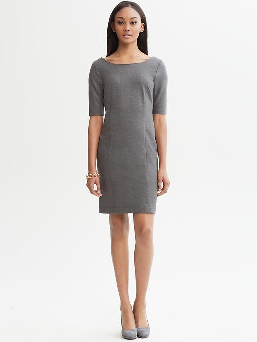 Banana Republic Grey ponté knit dress