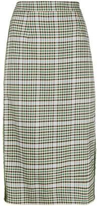 P.A.R.O.S.H. checkered print pencil skirt