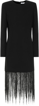 Givenchy Fringed wool minidress