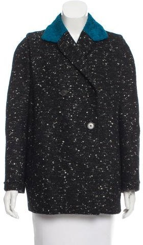 Carven Carven Tweed Short Coat