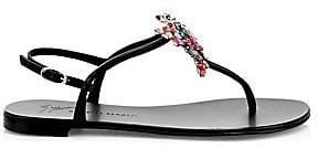 Giuseppe Zanotti Women's Crystal Butterfly Thong Sandals