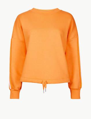 M&S Collection Cotton Rich Tie Waist Sweatshirt
