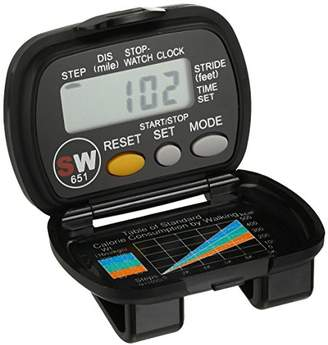 Momentum 1M-CR4106 Pedometer Step Miles Time Watch