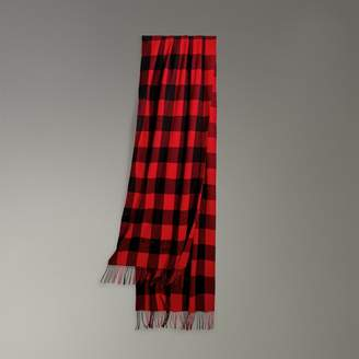 Burberry Oversized Gingham Cashmere Wool Scarf