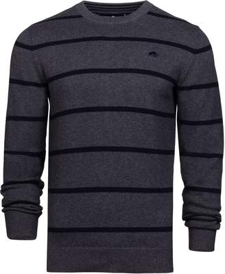 Men's Raging Bull Big and Tall Crew Neck Striped Sweater