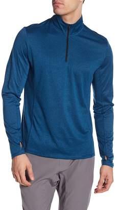 Zella Z By Long Sleeve Ultra Jersey 1/4 Zip Jacket