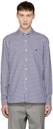 Burberry Navy Gingham Check Stopford Shirt