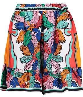 Emilio Pucci Ruffle-Trimmed Printed Silk-Twill Mini Skirt