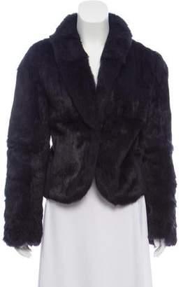Haute Hippie Silk-Lined Fur Jaket