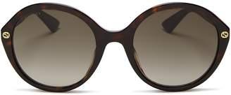 Gucci Round Sunglasses, 55mm