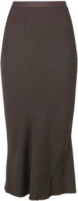Rick Owens pleated back midi skirt