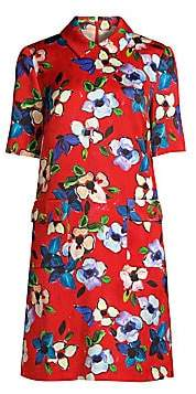Escada Women's Dullessa Hammered Floral Shift Dress