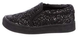 Akid Girls' Glitter Slip-On Sneakers