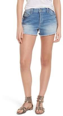Paige Emmitt High Waist Cutoff Denim Shorts
