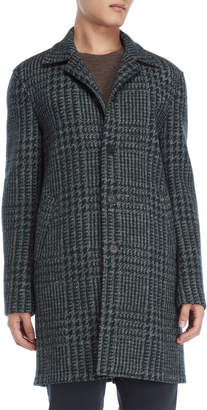 Altea Notched Collar Edward Check Coat