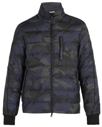 Valentino Camouflage Down Jacket - Mens - Navy