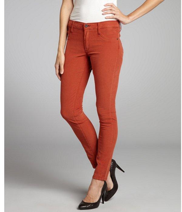 James Jeans antique cinnamon stretch cotton corduroy 'Twiggy' skinny jeans